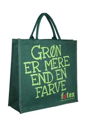 Foetex jute shopper with logo