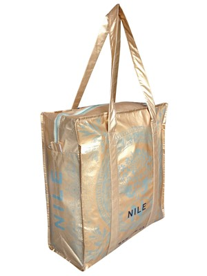 SHOPPING BAG with zipper NILE in recycled PET