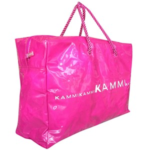 Shopping bag in PVC.